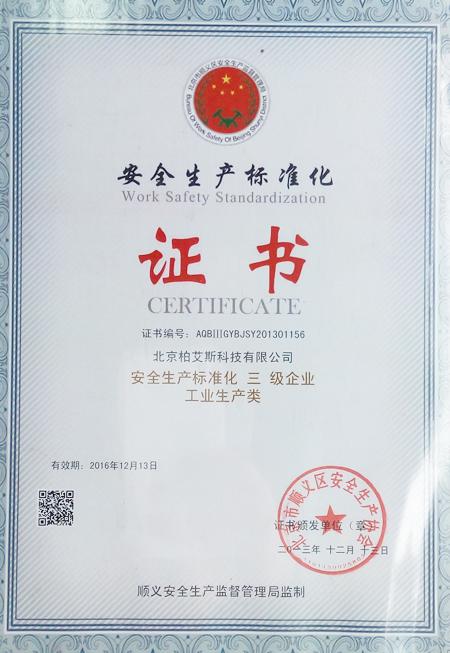 柏艾斯类似骑士影院可以:安全生产标准化证书