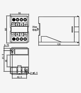 gdu1-c52-bd直流电压变送器